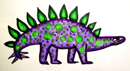 Coloring Picture of a Stegosaurus