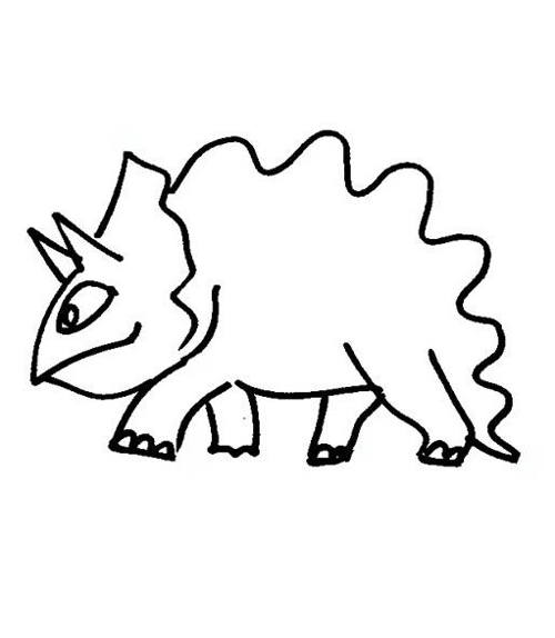 Funny Triceratops Coloring Page