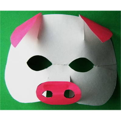 Paper -made pig mask