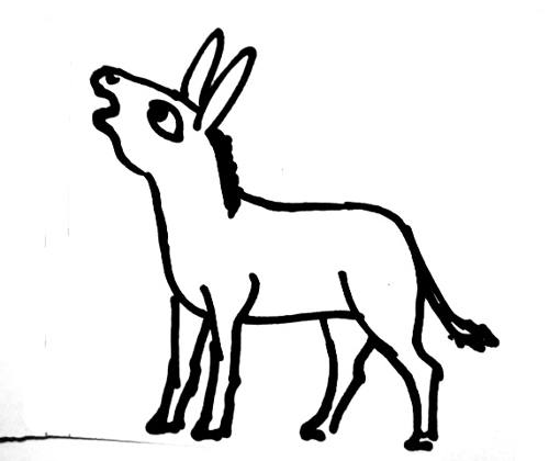 Donkey coloring picture