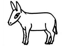 Shy donkey coloring page