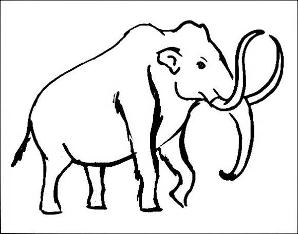 Drawing of a Mammoth