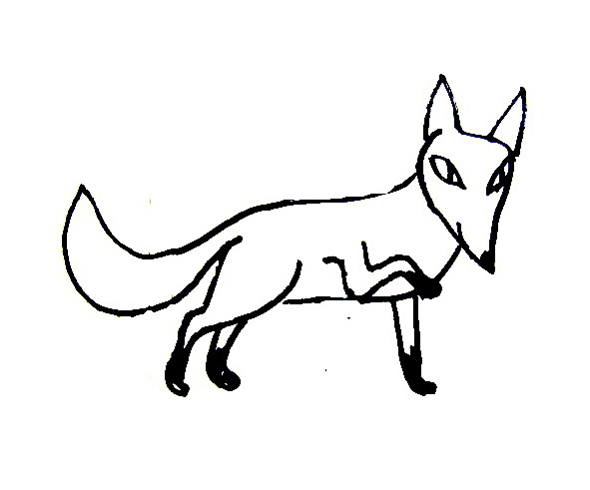 Cartoon Fox coloring pages