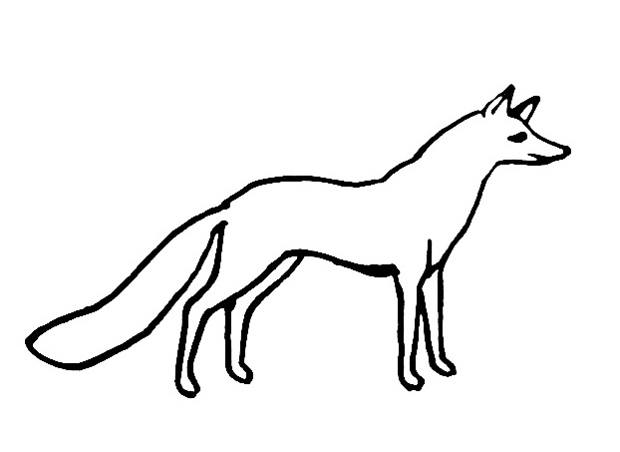 Fox coloring picture