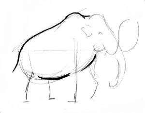 Step by step Mammoth Drawing Tutorial.