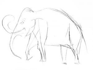Mammoth Drawing for kids