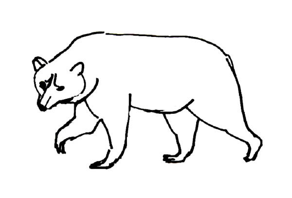 Brown bear coloring sheet