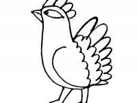 Cartoon proud bird coloring page