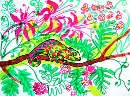 Chameleon drawing