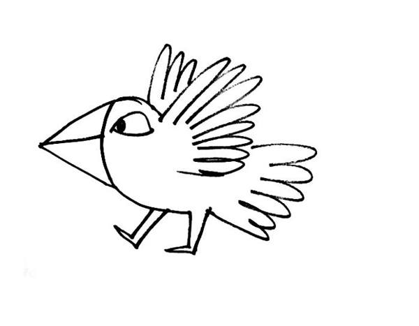 cartoon birds coloring pages