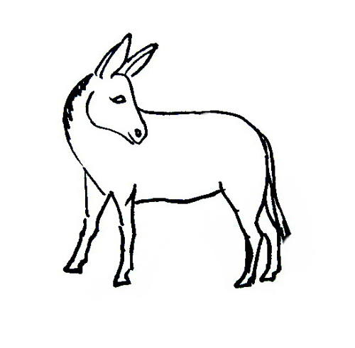 Donkey coloring sheet