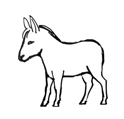 Donkey coloring pages for Donkey coloring page