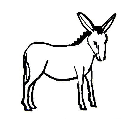 Obstinate Donkey coloring page