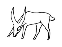 Cartoon antelope coloring picture
