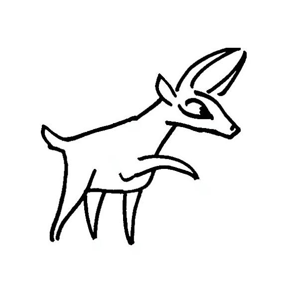 Cute antelope coloring for kids