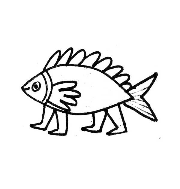 Cute Fish Coloring Pages Monster Page