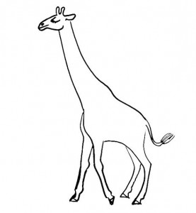 Giraffe coloring page 2