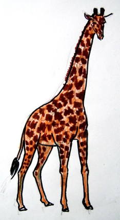 Colored Giraffe picture