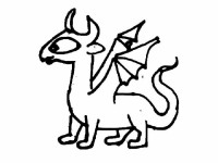 Funny dragon coloring page