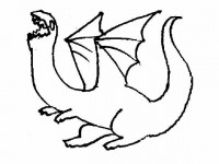 Roaring funny Dragon coloring page