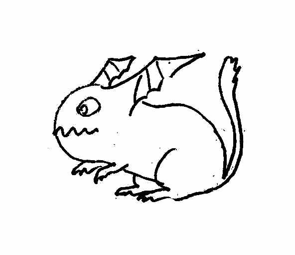 Funny Monsters and Dragons coloring pages
