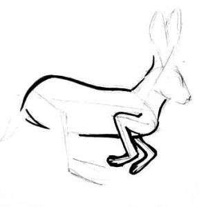 Bunny step by step drawing for kids