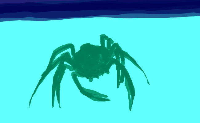 Crab drawing