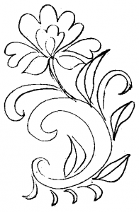 Vegetative pattern for coloring