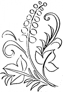 Patterns in the folk style coloring