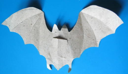 Paper bat step by step