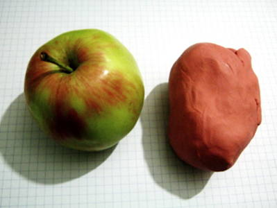 Modeling an Apple from life