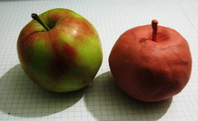 Modelling clay apple