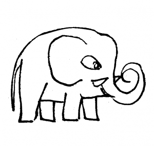 Cute elephants coloring sheets
