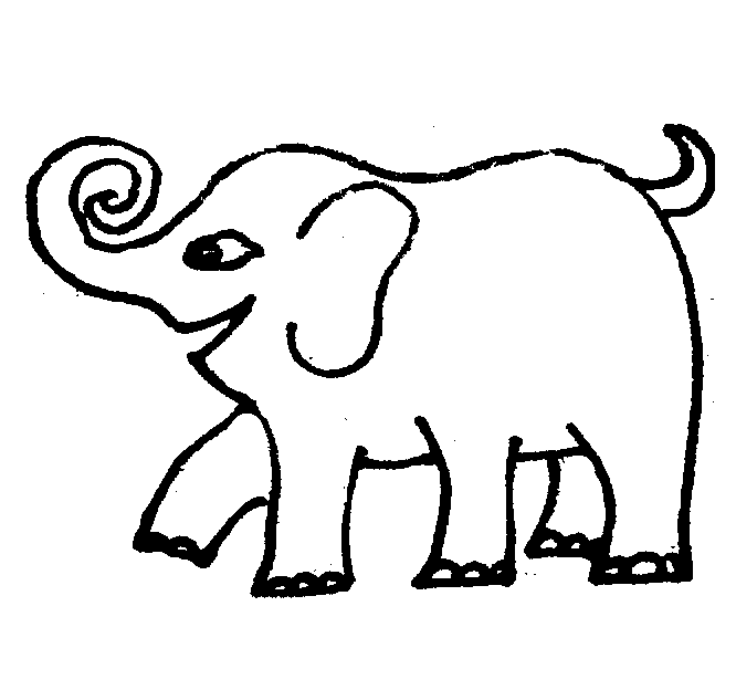 Cute cartoon elephants coloring page 13