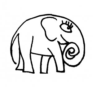 Cute Elephant coloring