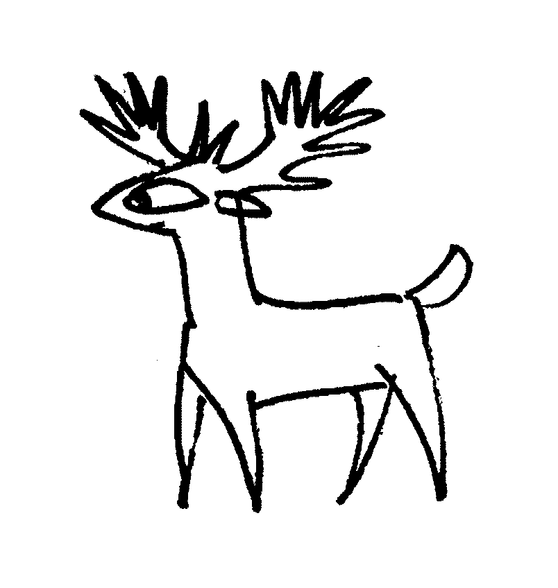 Deer coloring pictures