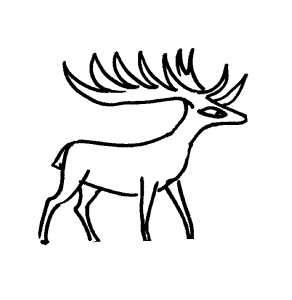 Cartoon deer coloring pictures