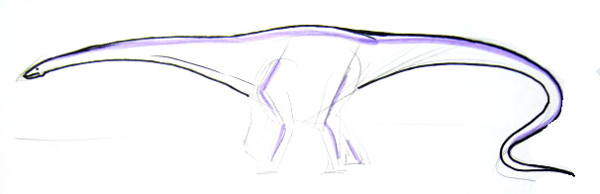Brachiosaurus step by step