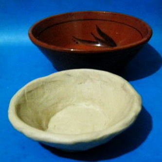 Modelling clay bowl
