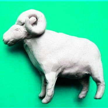 How to sculpt a sheep from plasticine