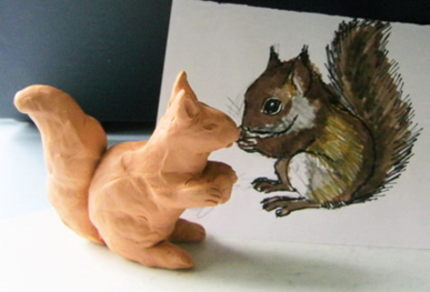 Plasticine Squirrel