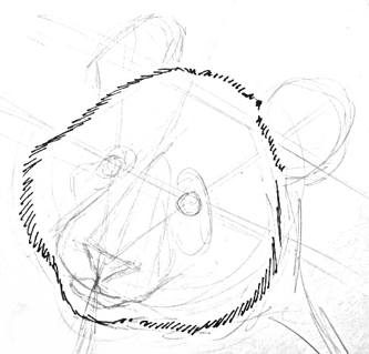 Panda face drawing