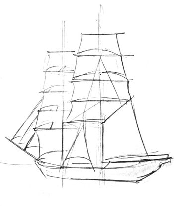 Sailboat drawing lesson
