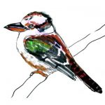 How to draw a Kingfisher Kookaburra tutorial