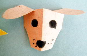 Papercraft doggy