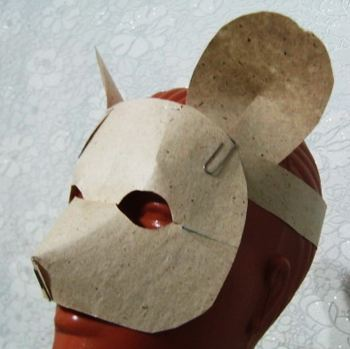 Paper mouse mask -2