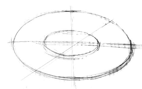 How to draw an oval
