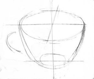 Teacup drawing lesson