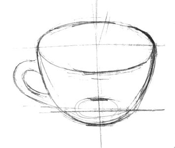 Teacup drawing  step by step