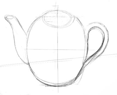 Teakettle drawing lesson